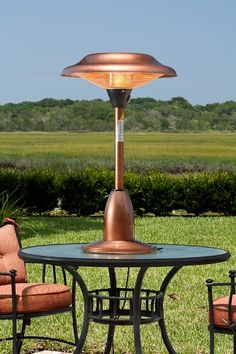 Copper Finish Table Top Halogen Patio Heater
