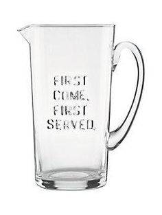 first come first served pitcher by kate spade new york