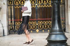 Street Style Paris Fashion Week: Rihanna, Miroslava Duma, More | StyleCaster