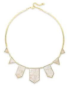 House of Harlow Gold-Tone Imitation Pearl Station Necklace - Jewelry & Watches - Macy's