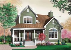 Plan 21370DR: Attractive Country with Options