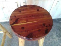 30 Rustic Cedar log barstool Rustic Bar Stools, Cedar Log, Wood Work, Woodworking, Table, Furniture, Vintage, Etsy, Home Decor