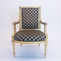 A Louis XVI style bergère, fit for a king...
