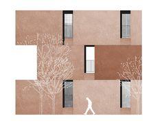 digital drawing: EMV Housing, Madrid, David Chipperfield