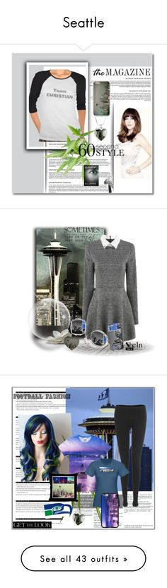 Seattle by stine1online on Polyvore featuring Mode, grey, Arche, OKA, footballfashion, OPI, graphicsweatshirt, interior, interiors and interior design