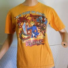 Yu Gi Og Children's Kids Boys T Shirt Size 12/14 Orange It's Time To Duel  5026 #YuGiOh #Everyday