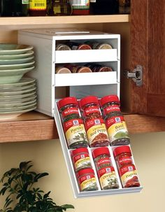Great in theory, but in practice there's no way I could use these to organize my spices without having to expand the cabinet space devoted to them.