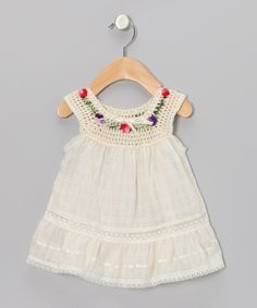 Take a look at this Natural Lucila Yoke Dress  - Infant, Toddler & Girls on zulily today!