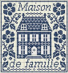 gazette94; house in cross stitch
