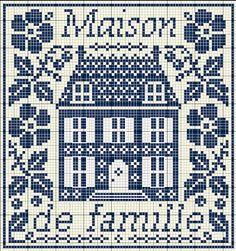 Maison de ville cross-stitch - free