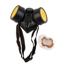 Emergency Survival Safety Respiratory Gas Mask With Dual Protection Filter