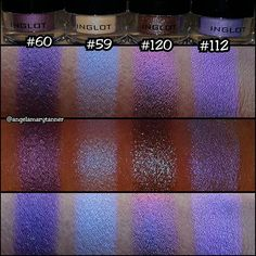 INGLOT PIGMENTS  Just got some new inglot piggies! 120 and 112 though... I'm too tired to fully sing their praises but damn! I'll do better swatches early next week because these don't do them justice.