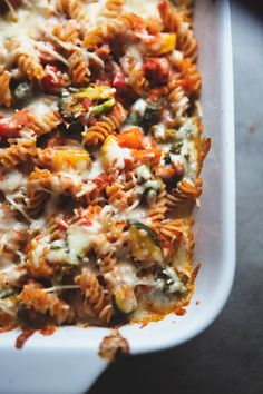 Vegetable and Cheesy Pasta Bake from @withstylegrace