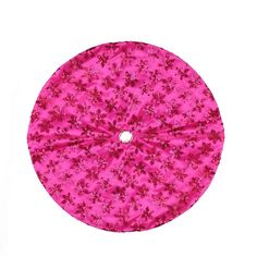 "20"" Decorative Pink Sequin Snowflake Pattern Mini Christmas Tree Skirt"