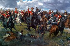 the First Lifeguards counter attacking the cuirassiers at the battle of Waterloo The painting went through innumerable pencil and color sketch stages. by Karl Kopinski Waterloo 1815, Battle Of Waterloo, Military Art, Military History, Military Ranks, Military Diorama, Military Uniforms, Karl Kopinski, Crimean War