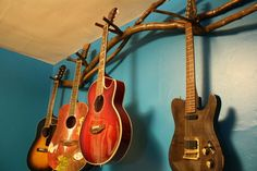Wall Mount Guitar Rack And Organizations On Pinterest