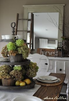 Dear Lillie: Jamie and Josh's Dining Room Swap and New Harvest Sign