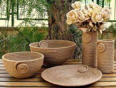 I Heart Organizing: A Darling DIY Rope Basket Sisal, Art N Craft, Diy Art, Diy Para A Casa, Rope Decor, Rope Art, Diy Crafts For Home Decor, Jute Crafts, Rope Basket