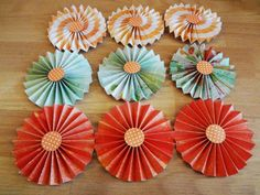 PAPER ROSETTES 3.5 by PinkdotsCreate on Etsy, $10.99