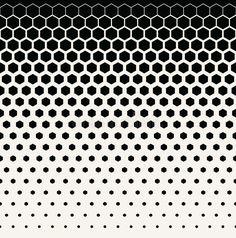 Abstract Geometric Black And White Graphic Halftone Hexagon Pattern Background Stock Vector - Illustration of deco, cover: 80534389 Hexagon Tattoo, Geometric Tattoo Pattern, Geometric Mandala Tattoo, Halftone Pattern, Geometry Tattoo, Geometric Pattern Design, Mandala Tattoo Design, Hexagon Pattern, Geometric Graphic