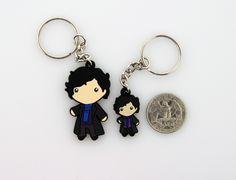 Sherlock Holmes Figure Keychain