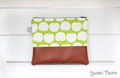 """PALOMA """"Grüner Apfel"""" Täschchen mit Kunstleder von Toujours Paloma auf DaWanda.com"""