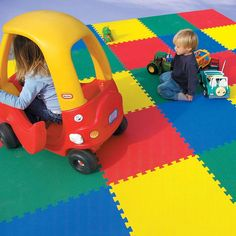 Indoor playground flooring is available as interlocking foam tiles. Use these 4 ft fall rated foam tiles for indoor playground floor mats. Playroom Flooring, Playground Flooring, Foam Flooring, Outdoor Flooring, Indoor Playground, Foam Floor Tiles, Floor Mats, Kids Outdoor Spaces, Indoor Play Areas