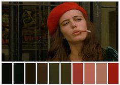Color Palette by Palette Maniac movie : the dreamers Movie Color Palette, Colour Pallette, Cinema Colours, Color In Film, Color Script, Movies And Series, Cinematic Photography, Mood And Tone, Film Inspiration