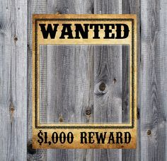 Wanted Poster  Western Cowboy Rodeo Birthday by GluteusMaximus, $5.00