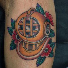 Helmet Tattoo, Tattoo Photos, Skull, Traditional, Tattoos, Tatuajes, Tattoo, Tattos, Skulls