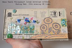 Envelope mail-art 'Giveaway'. Comment on my Facebook Page to enter draw :)