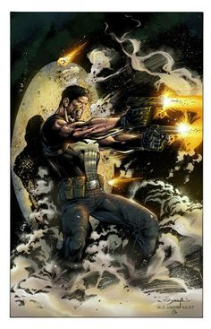 The Punisher pencils by Ardian Syaf, inks by Alejandro Sicat, and colours by Omi Remalante Jr.