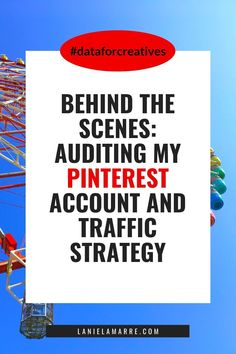In this behind-the-scenes episode, we're going through the results of my Pinterest audit and what my new Pinterest blog traffic strategy is. Head over for tips on about how I'm using Pinterest to boost clicks, drive traffic and increase my audience reach. // Lanie Lamarre - OMGrowth Small Business Marketing, Email Marketing, Online Business, Digital Marketing, Online Income, Online Earning, Pinterest Advertising, My Pinterest, Be Your Own Boss