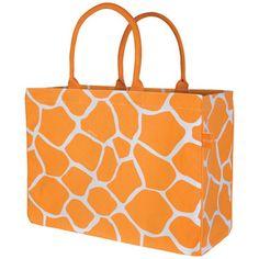 Giraffe Fashion Tote Orange now featured on Fab.