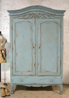 Armoire Normande Ancienne Peinte Blanche Peindre Larmoire - Peindre une armoire ancienne
