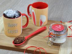 Looking for an innovative Easter cake to share? An alternative to an Easter egg? Look no further for your Easter gifts! Especially if you're looking for personalised Easter items or personalized cake.   My Easter Bunny mug cake kit makes a great Easter treat and is a fun sweet treat!   WHAT DO
