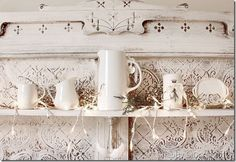 stoneware and stamped candle
