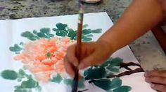 牡丹畫法01 - YouTube