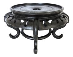 """Vintage Circular Rosewood Display Stand 9"""" on Chairish.com - or contact us directly #stand #chinese #wood"""