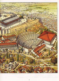 The south slope of Athens Acropolis. voyages d'alix - Recherche Google