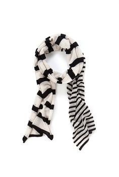 Knit Stripe Scarf in black from Country Road