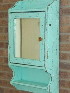 Beachy Blue medicine cabinet by bornagainfurnituremb on Etsy, $69.00