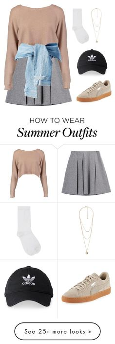 """""""Outfit 182"""" by kittylovesxoxo on Polyvore featuring Fall Winter Spring Summer, Boohoo, M&Co, MANGO, Puma and adidas"""
