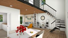 Charmant Maison ENVOL   Un Salon Moderne, Original Et Lumineux Avec étage En  Mezzanine Pour Cette