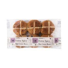 Extra Spicy Hot Cross Buns 6Pk Chelsea Bun, Hot Cross Buns, Bread Rolls, Raisin, Spicy, Bakery, Pudding, Nutrition, Desserts