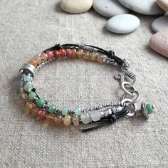 Mexican Fire Opal Chrysoprase Fine Silver and by BohBiJewelry