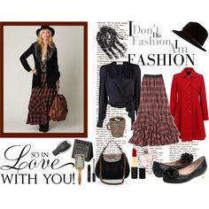 """Plaid Maxi Skirt"" by yamyiy on Polyvore"