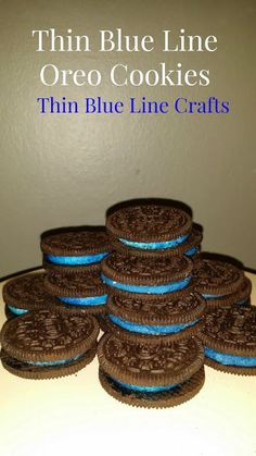 Police Oreos I Like It Thin Blue Line Crafts: Thin Blue Line Oreo Cookies. This thin blue line makes us sisters . Police Retirement Party, Retirement Parties, Grad Parties, Themed Parties, Police Officer Wife, Police Wife Life, Police Lives Matter, Thin Blue Lines, Oreo Cookies