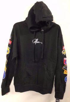 98b3a60da3a44 DEF Young and Reckless Men s Caliber Pullover Hoodie Sweatshirt Black  XL