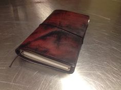 ▶ Dying Leather for DIY Midori Fauxdori Traveler's Notebook - YouTube